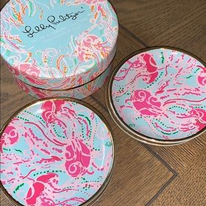 Lilly Pulitzer Set of 4 Coasters Jellies Be Jammin